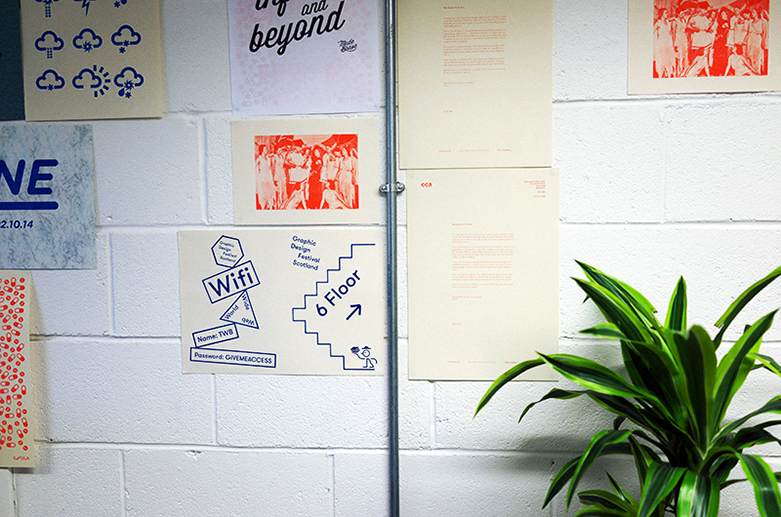 cool risograph prints at GDFS