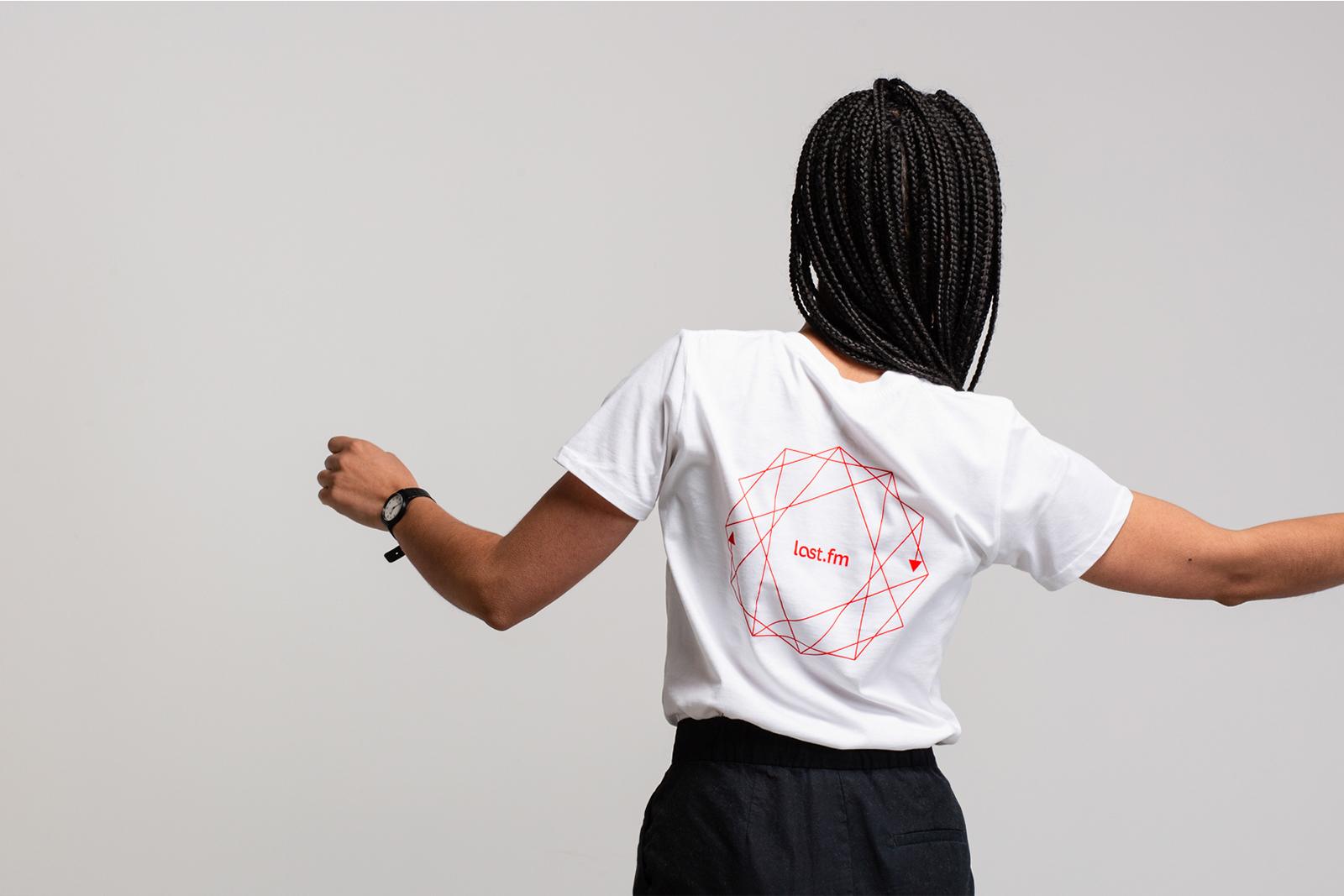 Last.fm Merchandise T Shirt Reverse
