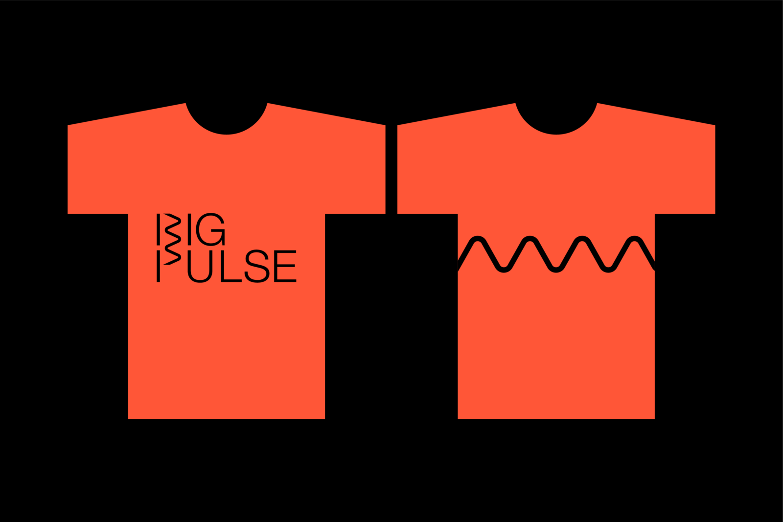 Big Pulse logo on the front of a T shirt with signature line on reverse