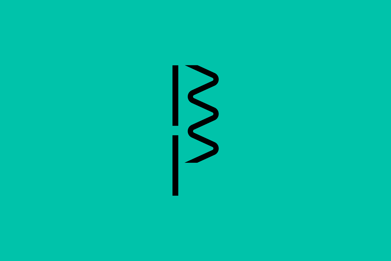Big Pulse simplified logo, a B and a P connected by the Big Pulse signature line of movement