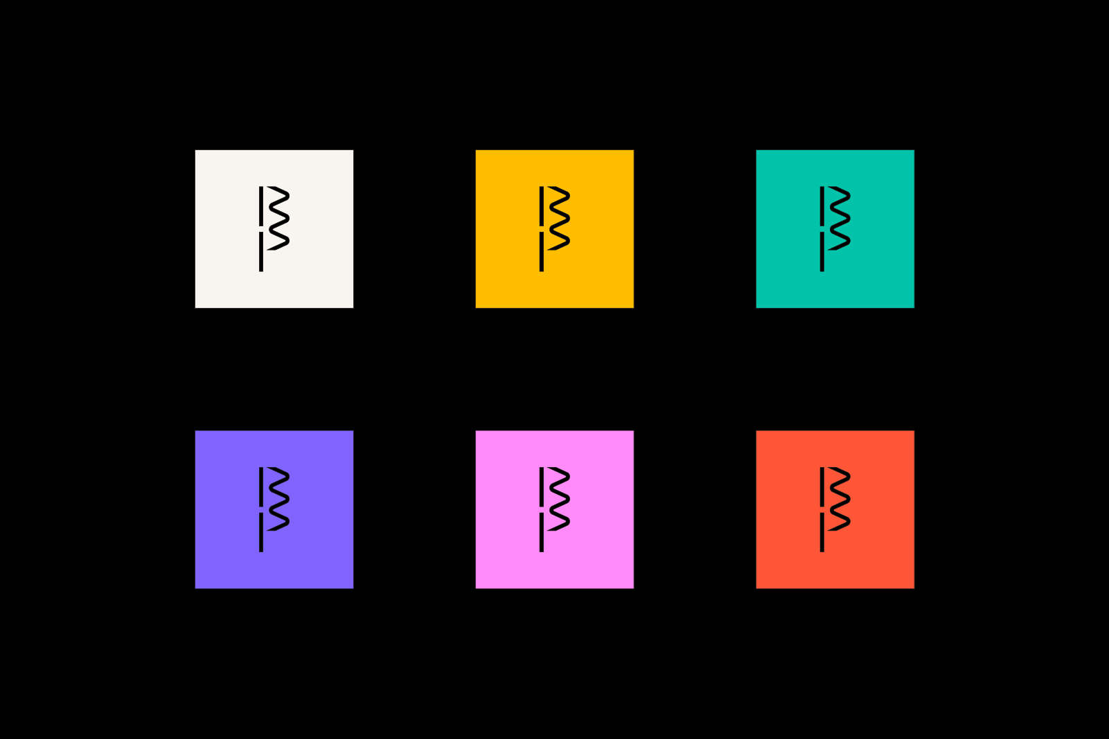 Simplified BP logo on various colours